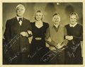 "Movie/TV Memorabilia:Autographs and Signed Items, ""Andy Hardy"" Cast Signed Photo. A b&w 11"" x 14"" photo of thecast of the popular comedy series of the '30s and '40s, inscrib...(Total: 1 Item)"