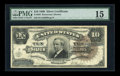 Large Size:Silver Certificates, Fr. 295 $10 1886 Silver Certificate PMG Choice Fine 15....