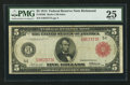 Fr. 836b $5 1914 Red Seal Federal Reserve Note PMG Very Fine 25