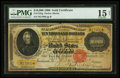 Large Size:Gold Certificates, Fr. 1225g $10000 1900 Gold Certificate PMG Choice Fine 15 Net.. ...