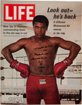 "Boxing Collectibles:Autographs, 1990 Muhammad Ali Signed, Inscribed ""LIFE"" Magazine...."