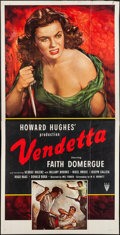"Movie Posters:Crime, Vendetta (RKO, 1950). Three Sheet (41"" X 79.5""). Crime.. ..."