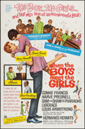 """Movie Posters:Musical, When the Boys Meet the Girls (MGM, 1965). One Sheet (27"""" X 41"""").Musical.. ..."""