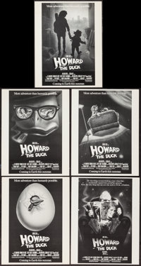 """Howard the Duck (Universal, 1986). Concept Poster Artwork (5) (11"""" X 14"""") & Postcards (6) (8.5"""" X 5.5..."""