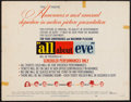 "Movie Posters:Academy Award Winners, All About Eve (20th Century Fox, 1950). Half Sheet (22"" X 28"") Style B. Academy Award Winners.. ..."