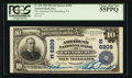 National Bank Notes:Pennsylvania, Ebensburg, PA - $10 1902 Plain Back Fr. 634 The American NB Ch. #(E)6209. ...