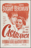 "Movie Posters:Academy Award Winners, Casablanca (Warner Brothers, R-1949). Military One Sheet (27"" X41""). Academy Award Winners.. ..."