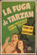"Movie Posters:Adventure, Tarzan Escapes (MGM, 1937). Argentinean Poster (29"" X 43"").Adventure.. ..."