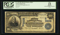 National Bank Notes:Pennsylvania, Riegelsville, PA - $10 1902 Date Back Fr. 618 The First NB Ch. #(E)9202. ...