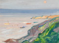 Fine Art - Painting, American:Modern  (1900 1949)  , CHARLES HERBERT WOODBURY (American, 1864-1940). Sun on NarrowCove, Ogunquit, circa 1910. Oil on canvasboard. 10 x 13-7/...
