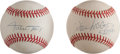 Baseball Collectibles:Hats, Willie McCovey and Willie Mays Single Signed Baseballs Lot of 2....