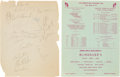 Football Collectibles:Others, 1964 Green Bay Packers Multi Signed Sheet....