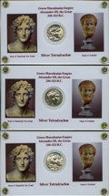 Ancients:Greek, Ancients: MACEDONIAN KINGDOM. Alexander III the Great (336-323 BC).Lot of five (5) AR tetradrachms.... (Total: 5 coins)