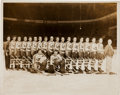 Hockey Collectibles:Photos, 1937-38 New York Americans Original Oversized Photograph....