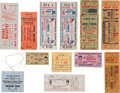 Boxing Collectibles:Memorabilia, 1913-1960 Boxing Tickets Lot of 12....