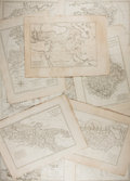 "Books:Maps & Atlases, [Antique Maps] Group of 12 Antique Engraved European Maps byCartographer Rigobert Bonne, Circa 1787. 12.5"" x 17.5"" in both ..."