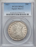 Bust Half Dollars, 1827 50C Square Base 2 MS62 PCGS. O-128, Low R.4....