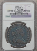 Early Dollars, 1799 $1 7x6 Stars -- Scratches, Artificial Toning -- NGC Details.XF. B-9, BB-166, R.1....
