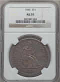 Seated Dollars, 1840 $1 AU55 NGC....