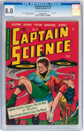 Golden Age (1938-1955):Science Fiction, Captain Science #2 (Youthful Magazines, 1951) CGC VF 8.0 Off-whiteto white pages....
