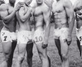 Photographs:20th Century, BRUCE WEBER (American, b. 1946). Albert's Underwear Designs forFootball, Bridgehampton, Long Island, New York, 2005. Vi...