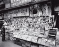 Photographs, BERENICE ABBOTT (American, 1898-1991). Newsstand, East 32nd Street & Third Avenue, Manhattan, 1935. Gelatin silver print...