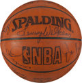 Basketball Collectibles:Balls, 2004-05 New York Knicks Team Signed Game Used Basketball....
