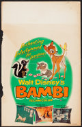 "Movie Posters:Animation, Bambi (Buena Vista, R-1957). Window Card (14"" X 22""). Animation....."