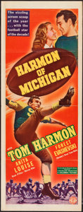 "Movie Posters:Sports, Harmon of Michigan (Columbia, 1941). Insert (14"" X 36""). Sports.. ..."