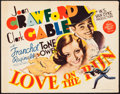 "Movie Posters:Comedy, Love On the Run (MGM, 1936). Autographed Title Lobby Card (11"" X14""). Comedy.. ..."