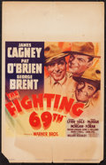 "Movie Posters:War, The Fighting 69th (Warner Brothers, 1940). Window Card (14"" X 22"").War.. ..."