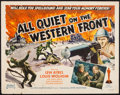 "Movie Posters:Academy Award Winners, All Quiet on the Western Front (Realart, R-1950). Half Sheet (22"" X 28""). Academy Award Winners.. ..."
