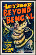 "Movie Posters:Adventure, Beyond Bengal (Showmens Pictures, 1934). One Sheet (27"" X 41"")Style B. Adventure.. ..."