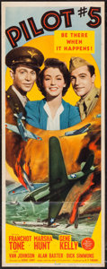"Movie Posters:War, Pilot #5 (MGM, 1942). Insert (14"" X 36""). War.. ..."