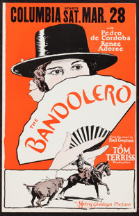 "The Bandolero (Metro Goldwyn, 1924). Window Card (14"" X 22""). Western"