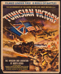 """Movie Posters:War, Tunisian Victory (MGM, 1944). Trimmed Window Card (14"""" X 17"""").War.. ..."""