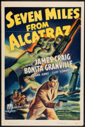 "Movie Posters:Action, Seven Miles from Alcatraz (RKO, 1942). One Sheet (27"" X 41"").Action.. ..."