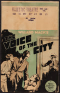 "Movie Posters:Crime, The Voice of the City (MGM, 1929). Window Card (14"" X 22""). Crime.. ..."