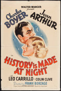 "Movie Posters:Romance, History is Made at Night (United Artists, 1937). One Sheet (27"" X41""). Romance.. ..."