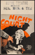"Movie Posters:Crime, Night Court (MGM, 1932). Window Card (14"" X 22""). Crime.. ..."