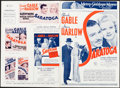 "Movie Posters:Comedy, Saratoga & Other Lot (MGM, 1937). Uncut British Pressbooks (2) (Multiple Pages, 10"" X 14.5""). Comedy.. ... (Total: 2 Items)"