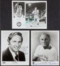 Basketball Collectibles:Photos, Sharman, Holzman and Havlicek Signed Photographs Lot of 3....