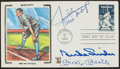 Baseball Collectibles:Others, Willie Mays, Mickey Mantle and Duke Snider Multi Signed First Day Cover....