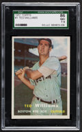 Baseball Cards:Singles (1950-1959), 1957 Topps Ted Williams #1 SGC 86 NM+ 7.5....