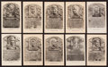 Baseball Collectibles:Others, Baseball Hall of Fame Plaque Postcards Lot of 118 (73 Vintage Blackand White Issue)....