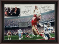 "Football Collectibles:Photos, Dwight Clark Signed Oversized ""The Catch"" Photograph, With Handwritten Play Diagram. ..."