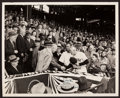Baseball Collectibles:Photos, Casey Stengel Signed Original Photograph (Eisenhower Pictured)....