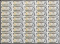 Canadian Currency: , BC-46bA 1973 $1 Uncut Sheet of 40. ...