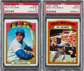 Baseball Cards:Singles (1970-Now), 1972 Topps Billy Williams #439 and Williams In Action #440 PSA Pair(2). ...