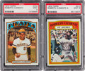 Baseball Cards:Singles (1970-Now), 1972 Topps Roberto Clemente #309 and Clemente In Action #310 PSA Mint 9 Pair (2). ...